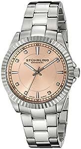 Stuhrling Original 408L.12114 Marine Swiss Quartz Crystals Pink Dial Watch