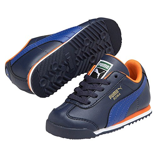 PUMA Roma Basic Kids Sneaker (Toddler/Little Kid/Big Kid), Peacoat/Surf The Web, 11.5 M US Little Kid