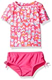 Osh Kosh Baby Girls' Heart Short Sleeve Rash Guard Set, Pink, 12 Months