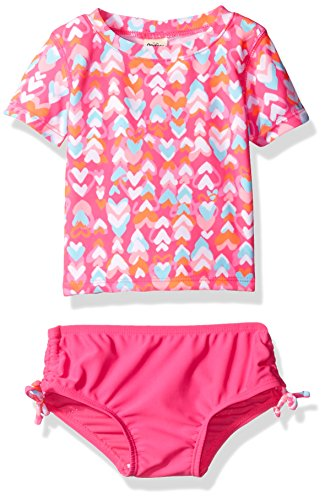 Osh Kosh Baby Girls' Heart Short Sleeve Rash Guard Set, Pink, 24 Months