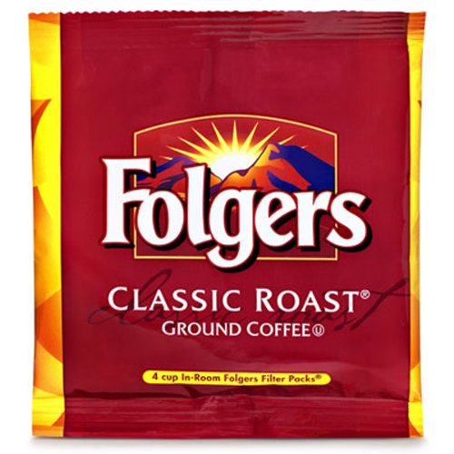 FOLGER'S Coffee Regular In Room, .6-Ounce Boxes (Pack of 200) Coffee 4 Cup Filter Pack