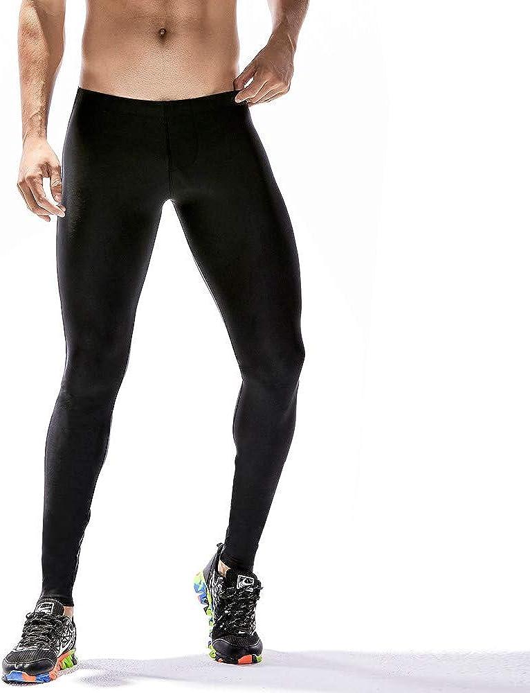 M/änner Leggings lang Unterhose Strumpfhose Herrenleggings Regular fit Leggings Mode Der M/äNner F/äRbte Sport-Eignungs-Hosen-Schnell Trocknende Breathable Strumpfhosen ITISME