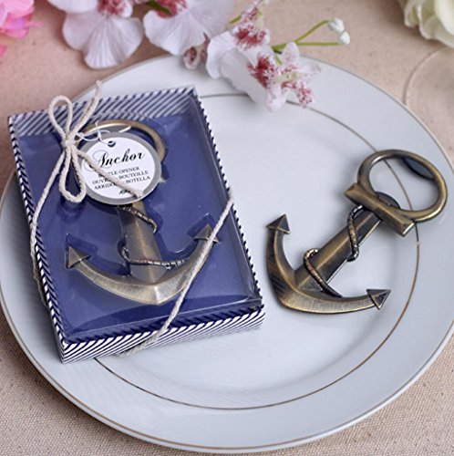 Anchor Nautical Themed Bottle Opener For Wedding Party Favor, Set of 100 by cute rabbit