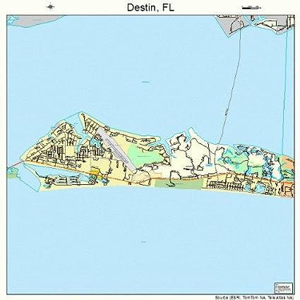 Map Of Destin Florida Area.Amazon Com Large Street Road Map Of Destin Florida Fl Printed