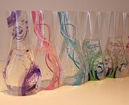 Amazon Plastic Foldable Flower Vase 5 Pieces Home Kitchen