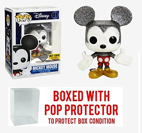 - Pop Funko Disney: Diamond Collection Mickey Mouse #01 Exclusive Collectible Vinyl Figure (Bundled with Box Protector Case)