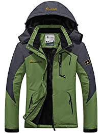 Sawadikaa Men's Outdoor Waterproof Mountain Fleece Plus Size Ski Jacket Sportwear
