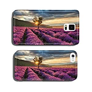 Stunning landscape with lavender field at sunrise cell phone cover case Samsung S5