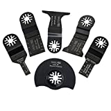 HAOLI (6pcs/set) Wood Working Oscillating Multi tools Saw Blades Accessories Fit for Multimaster Power Tools as Dremel
