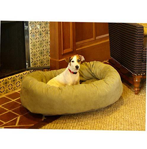 Amazon.com: Hebel Bagel Dog Pet Bed - Suede | Model SF - 484 ...