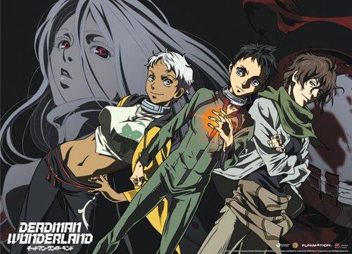 Great Eastern Entertainment Deadman Wonderland Ganta, Nagi, Karako and Shiro Wall Scroll, 33 by 44-Inch (Scroll Wonderland)