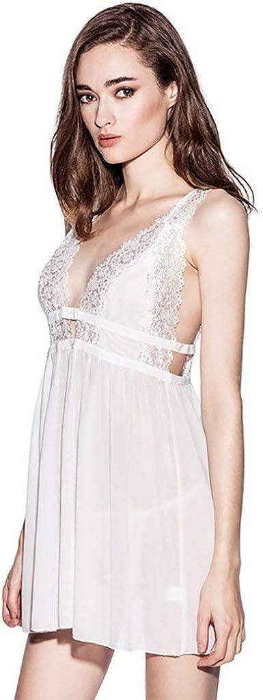 Mujer Batas Verano Encaje Elegante Conjunto De Pijama Sin ...