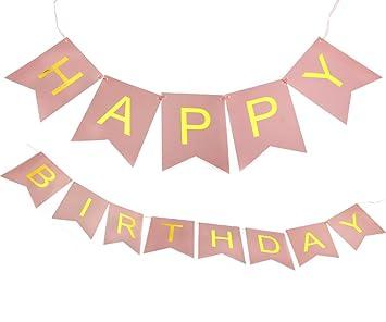 Amazon.com: Para colgar Banner Feliz cumpleaños guirnalda de ...