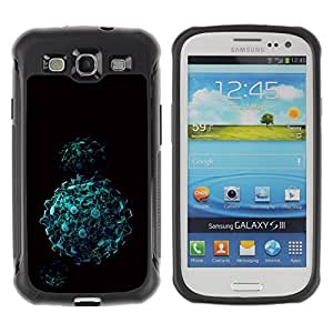 Suave TPU Caso Carcasa de Caucho Funda para Samsung Galaxy S3 I9300 / Abstract Balls / STRONG