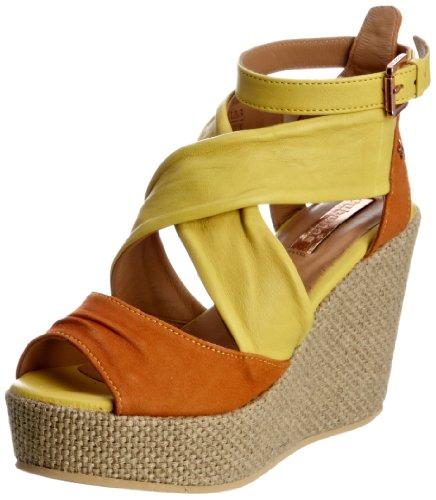 Cubanas Pailas400 - Sandalias de vestir de ante para mujer Amarillo