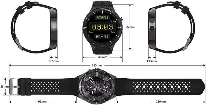 Zwbfu KINGWEAR KW88 Pro 3G SmartWatch Phone 1.39 Pulgadas Android 7.0 MTK6580 Quad Core 1.3GHz 1GB RAM 16GB ROM Smart Watch GPS Dispositivos ...