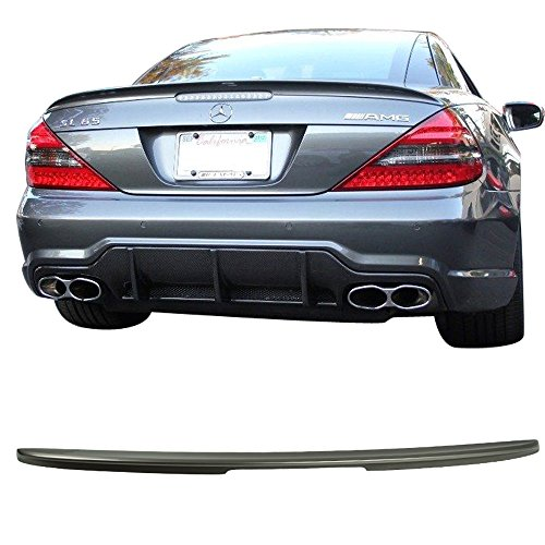 Class Spoilers (Pre-painted Trunk Spoiler Fits 2003-2011 Benz SL-Class   AMG Style ABS Painted #723 Pewter Metallic Tail Lip Deck Wing Other Color Available By IKON MOTORSPORTS   2004 2005 2006 2007 2008 2009 2010)