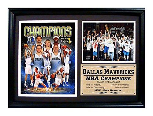 Black Dallas Mavericks Frame (Encore Select 127-07 NBA Dallas Mavericks Framed 2011 NBA Champion Celebration Print, 12-Inch by)