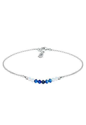Elli Women's 925 Silver Hearts Love Anklet QJ5nh