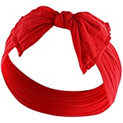 YOUR NEW FAVORITE HEADBAND Super Stretchy KNOT BABY HEADBAND For Newborn and Baby Girls By Zelda Matilda,Red