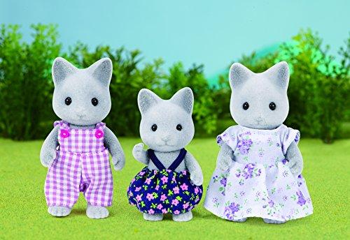 Amazon.es: SYLVANIAN FAMILIES- Grey Cat Family Mini muñecas ...