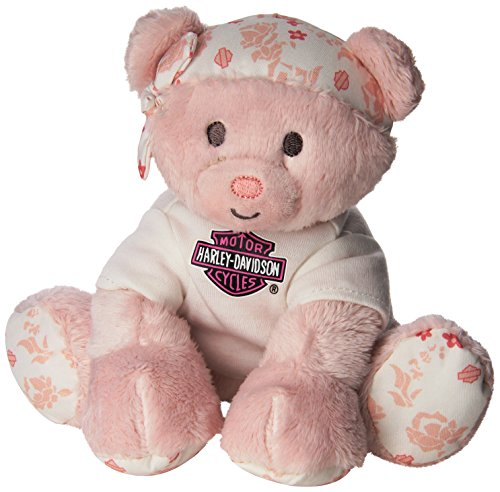 Harley Davidson All Bean Bag, Pink Bear