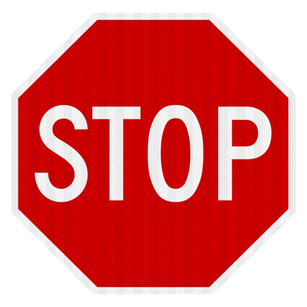 STOP SIGN Street road Sign 24 x 24. A Real Sign. 10 Year 3M Warranty.
