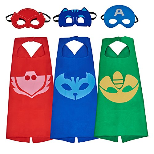 [Babylian Super Hero Dress Up Costumes with Masks and Cape for Kids (3 in pack)] (The Who Halloween Costume)