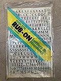 Quik Stik, 720, Rub-On, Dry Transfer, Letters