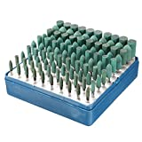 100pcs 3mm/4mm/5mm/7mm/10mm Rotary Assorted Abrasive Rubber Burr Point Kit For Dremel