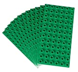 Classic Big Briks Baseplates by Strictly Bricks | Premium 7.5' x 3.75' Large Brick Building Base Plates | 100% Compatible with All Major Large Brick Brands | 12 Stackable Baseplates: Green