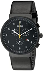 Braun Men's BN0035BKBKG Classic Chronograph Analog Display Quartz Black Watch