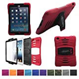 Bolkin® Hybrid Armor Series Shockproof Case Cover for Apple Ipad Mini (Red), Best Gadgets