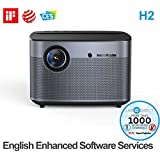 Home Theater Projector, H2 Auto Focus Native 1080p HD Projector Android 3D Smart Projector TV Built-in Harman/Kardon Customized HiFi Stereo with LiveTV.Direct Enhanced Software Services