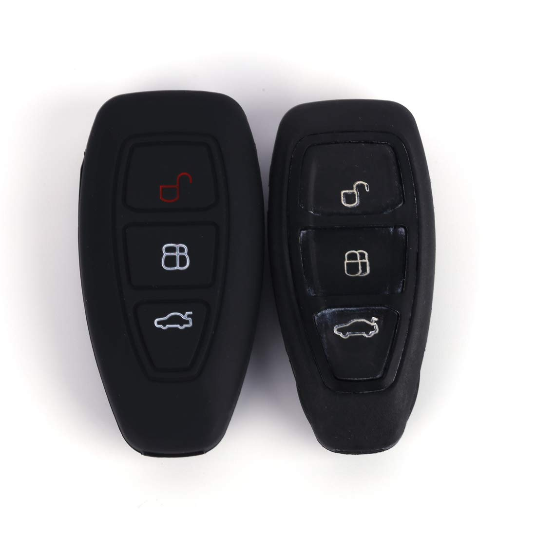Black BE Remote Key Cover Silicone Car Key Case Keyless Entry Car for Ford Focus 3 Escape Fiesta ST Titanium Mondeo Ecosport Kuga MK3 3 Buttons