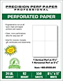 550 Sheets, 8-1/2 x 11 Blank Perforated Paper, 24# Paper, 4 UP Per Page Perforated Paper
