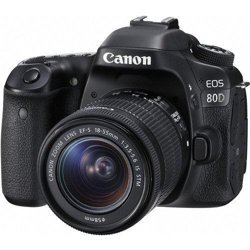 Canon-EOS-80D-DSLR-Camera-Deluxe-Video-Creator-Kit-with-Canon-EF-S-18-55mm-f35-56-IS-STM-Lens-Rode-VIDEOMIC-GO-Microphone-SanDisk-32GB-SD-Memory-Card-Accessory-Bundle