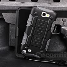 Galaxy Note 2 Case, Cocomii Robot Armor NEW [Heavy Duty] Premium Belt Clip Holster Kickstand Shockproof Hard Bumper Shell [Military Defender] Full Body Dual Layer Rugged Cover Samsung N7100 (Gray)