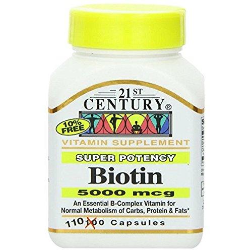 21st Century Biotin 5000mcg Capsules 110 ea (Pack of 10) by 21st Century