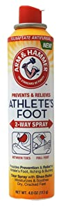 Arm + Hammer Athlete's Foot Relief & Prevention 2 Way Spray Treatment 4 Ounce (Pack of 2)