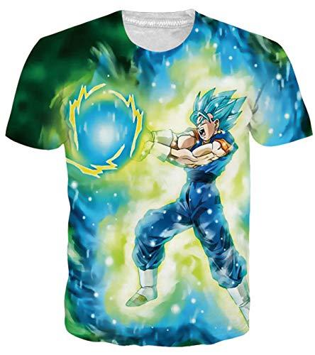 OPCOLV Men's DBZ Piccolo Shirt 3D Graphic Dragon Ball Tees Shirts Super Saiyan Tee Tops]()