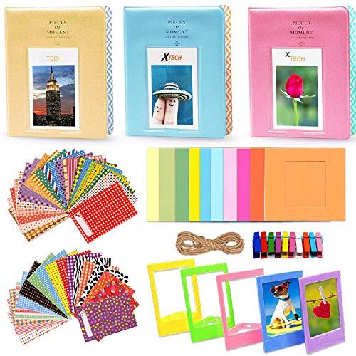 Xtech FujiFilm Instax Mini 9/8 Accessories KIT f/Fujifilm Instax Mini 9 / Mini 8 Includes: 3 Photo Albums + Colorful Paper/Plastic Frames + 60 Colorful Sticker Frames