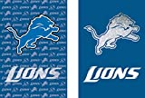 Team Sports America NFL Detroit Lions Suede Two Sided Glitter Embellished Garden Flag, Medium, Multicolored