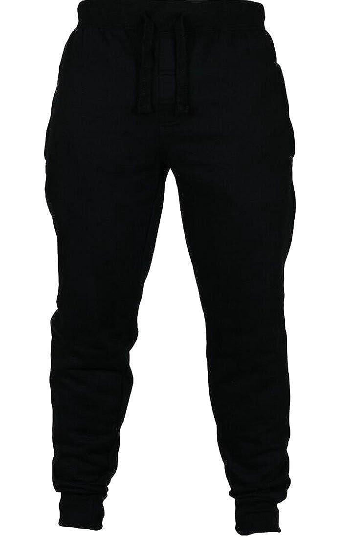 X-Future Mens Drawstring Zip-Up Stylish Slim Fit Mid Waist Patchwork Striped Lounge Pants