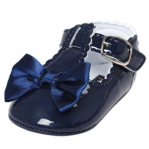 niñas Zapatos Switchali Zapatillas de deporte del niño del zapato del niño de la princesa Soft Bowknot del bebé Zapatos ocasionales Armada