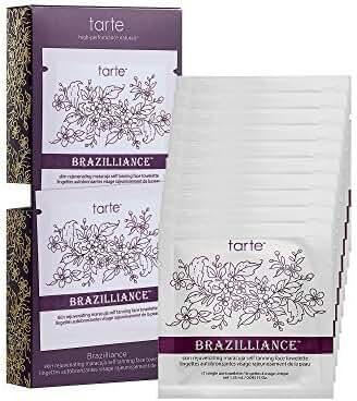 tarte Brazilliance skin rejuvenating maracuja self tanning face towelettes by TARTE