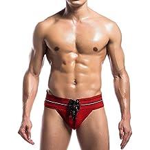 Fayesmiling Men's Jockstrap Athletic Supporter Wide Waist U Pouch Rope Tie
