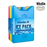 ViLoSa Ice Packs for Lunch Box&Cooler,Reusable ice Pack for Kids Keeps Food Cool Longer time Large ice Pack- Durable - Perfect Size - No Leaks - No Smells - 3 Paks - BPA Free
