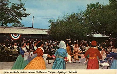 [Girls in their Native Greek Costumes Tarpon Springs, Florida Original Vintage Postcard] (60s Girl Costumes)