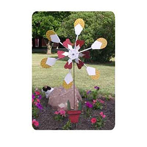 Woodworking Project Paper Plan to Build Flower Pot Windmill ()